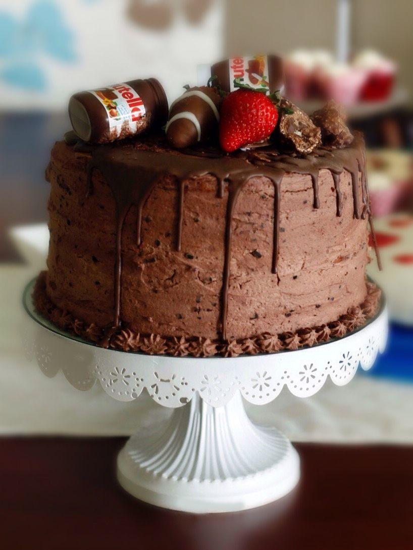 Schokokuchen Mit Nutellaglaser Deko Superlecker Chocolate Cake
