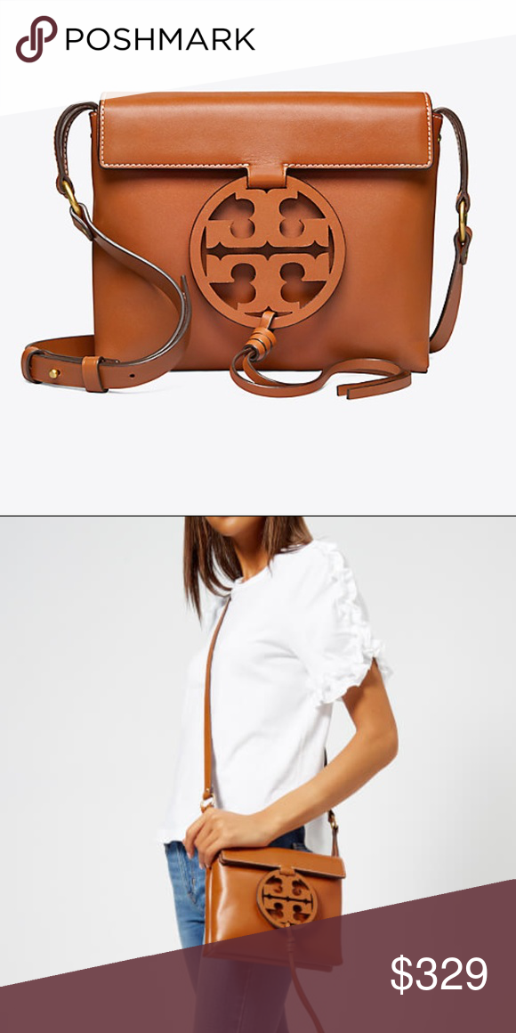 Tory Burch MILLER CROSSBODY bag Iconic logo collection, reimagined as a  handbag. Featuring a 80a6b5d409