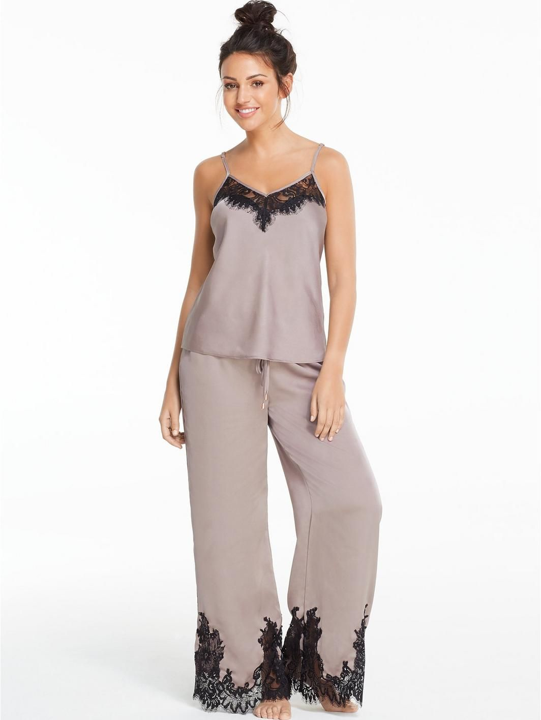648578c785 Michelle Keegan Lace and Satin Pyjama Set
