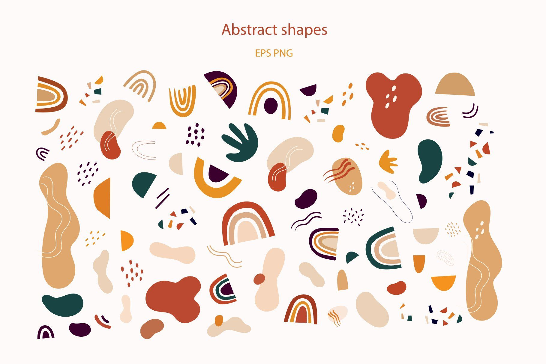 Abstract Shapes Abstract Shapes Print Design Pattern Organic Shape Design