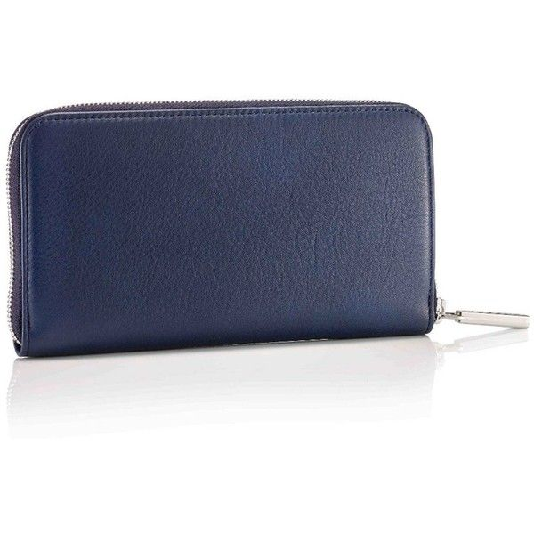 Mark Giusti - Long Classic Wallet Navy (£220) ❤ liked on Polyvore featuring bags, wallets, zipper wallet, genuine leather wallet, leather pocket wallet, navy blue wallet and long zipper wallet