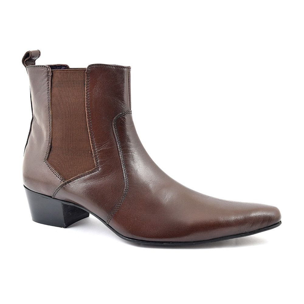 718361e36 Need cool mens dark brown cuban heel chelsea boots? Come find them and  other colours here for just £89.95. Mens Stylish Beatle Boots. Free  delivery!