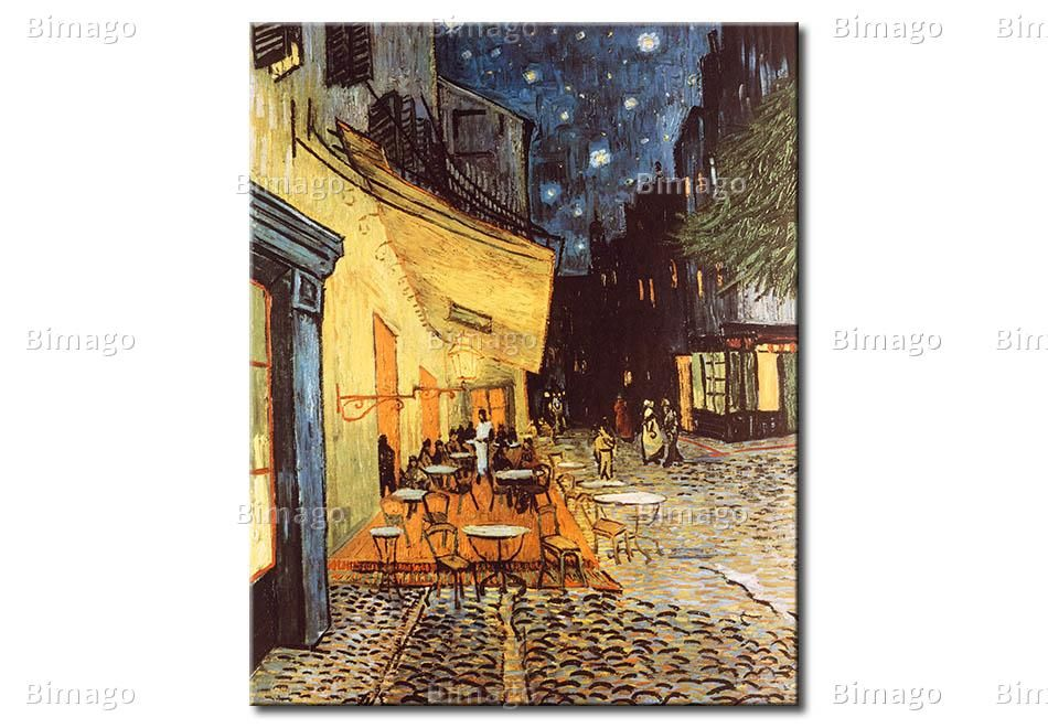 errace des Cafes at the Place du Forum in Arles in the evening - Vincent van Gogh