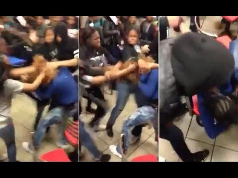 Ratchet Teens Fight At McDonald's In Brooklyn New York ...