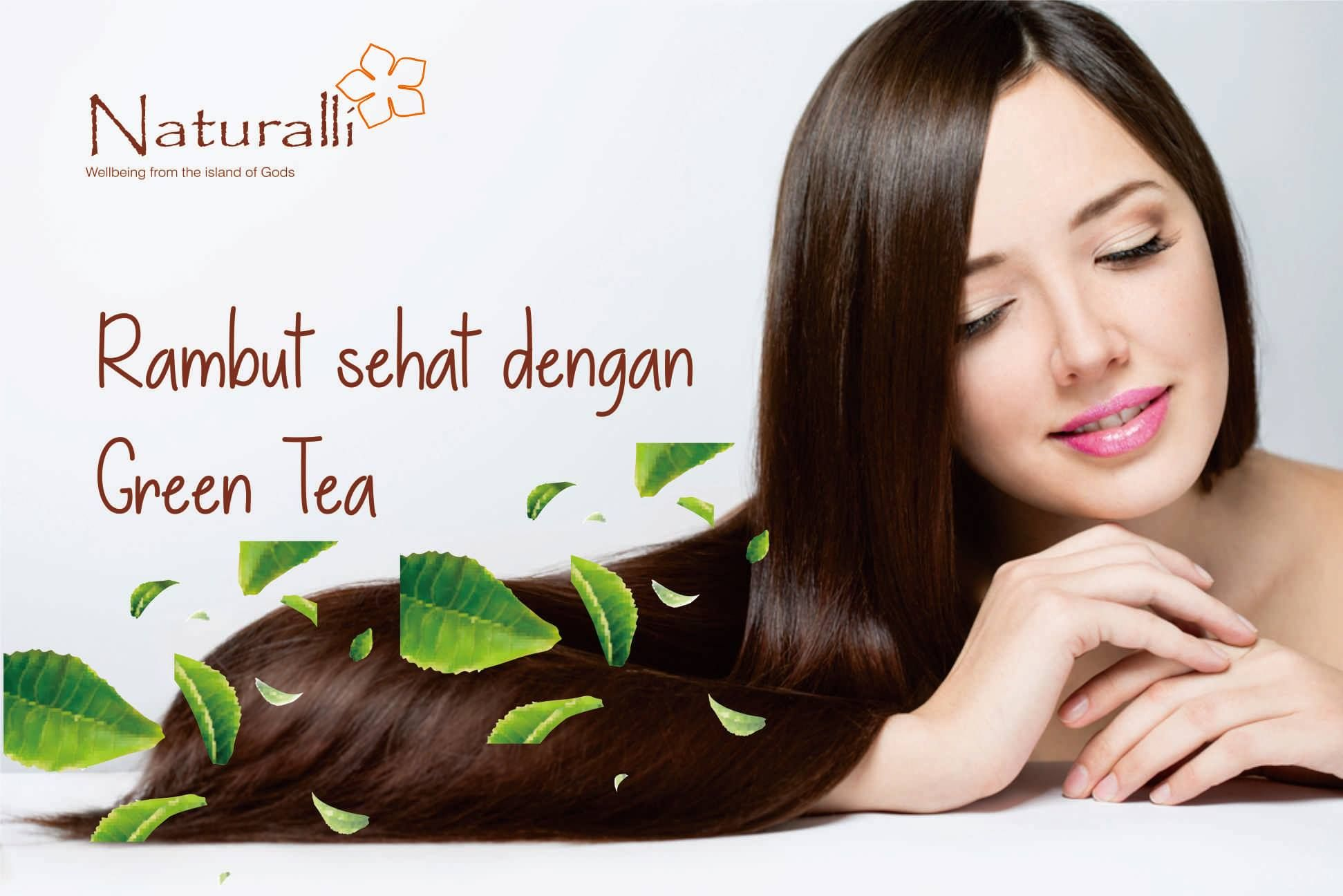 Green Tea Shampoo Natural Bali Perawatan Rambut Rontok Produk Kecantikan Alami Rambut Rontok
