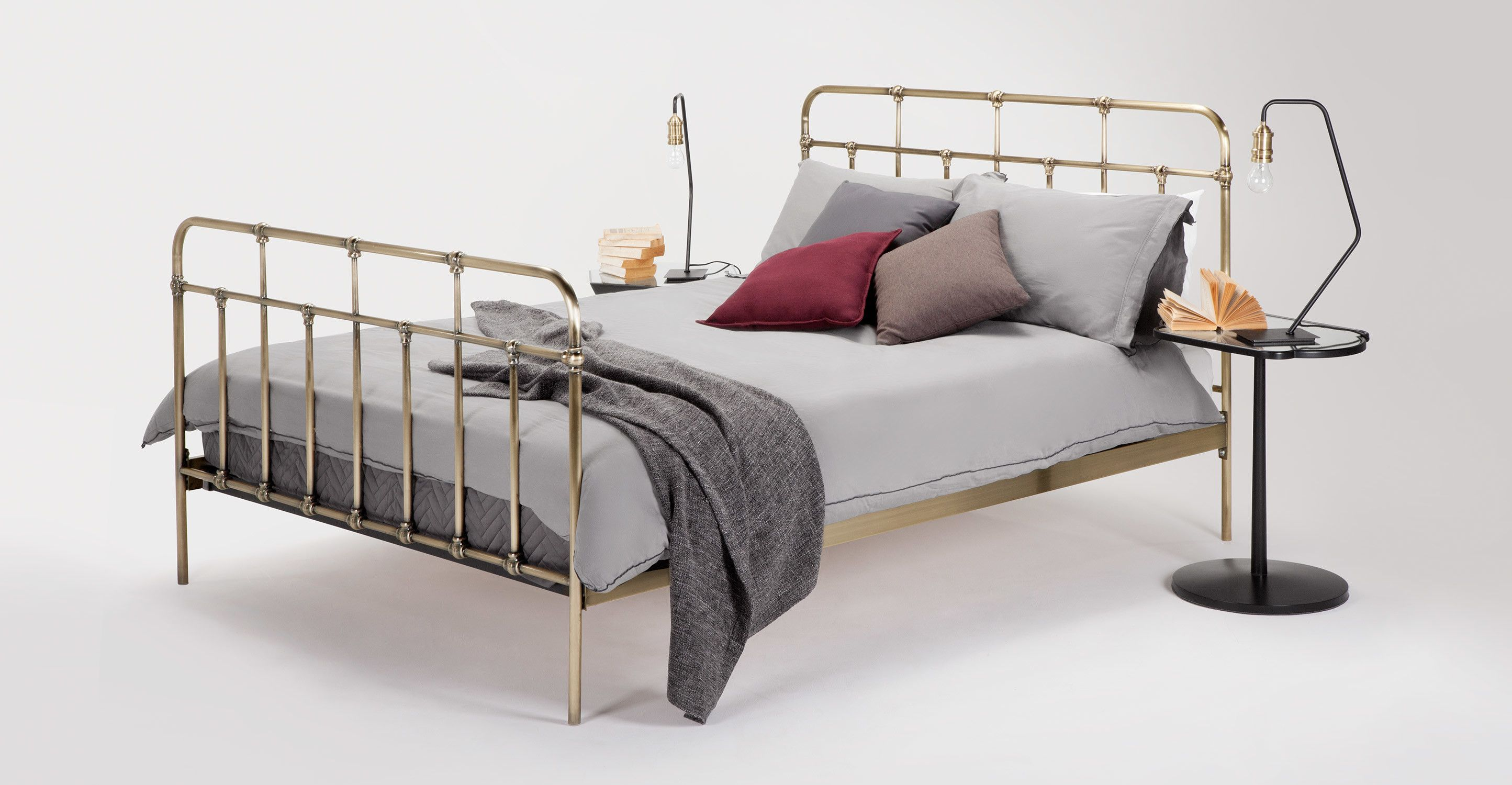 MADE Double Bed, Brass. Clearance. Express delivery. Starke Double ...