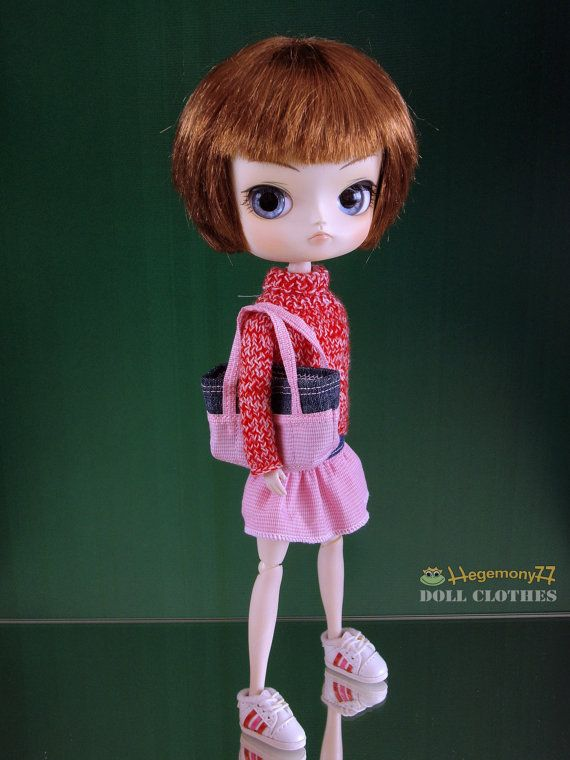 Tote Bag for 1 6 scale fashion Dolls  Blythe by DollClothesStore, $16.00