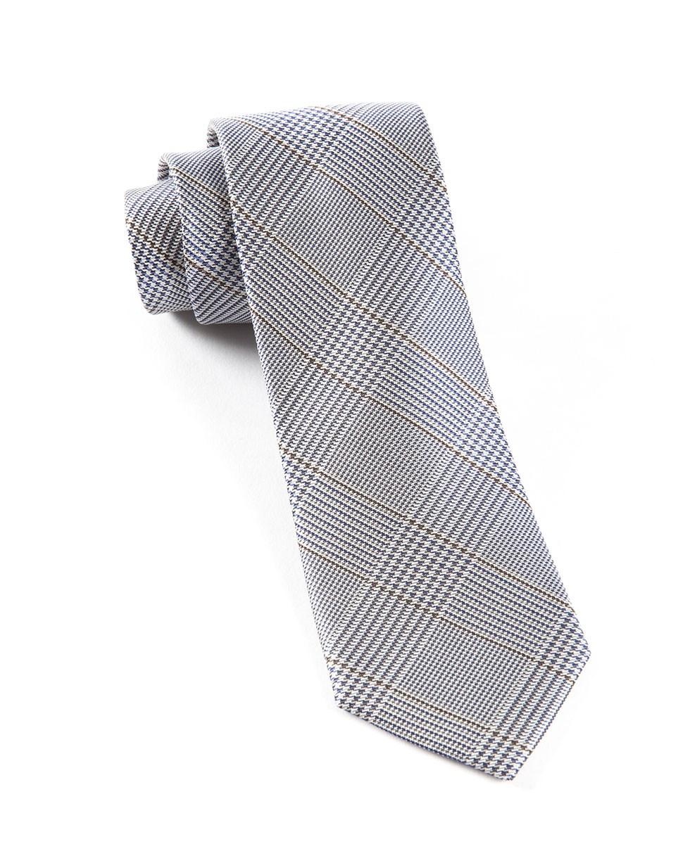 6afbfa067ac0 The Tie Bar: Glen H. Plaid Ties Grey 3.25 In. Regular Length - 58 In ...