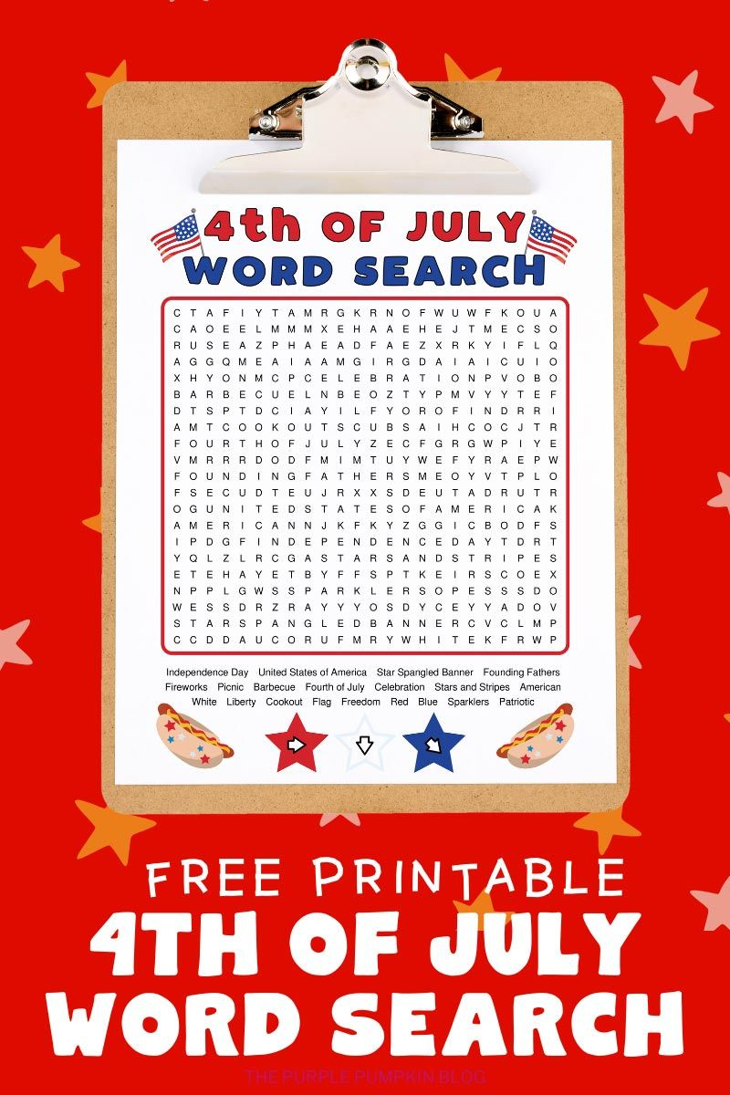 4th Of July Word Search 4th Of July Fourth Of July Activities For Kids [ 1200 x 800 Pixel ]