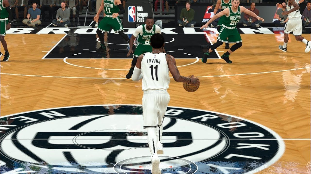 Kyrie Irving Signature Euro Step Move In Broklyn Nba 2k20 Kyrie