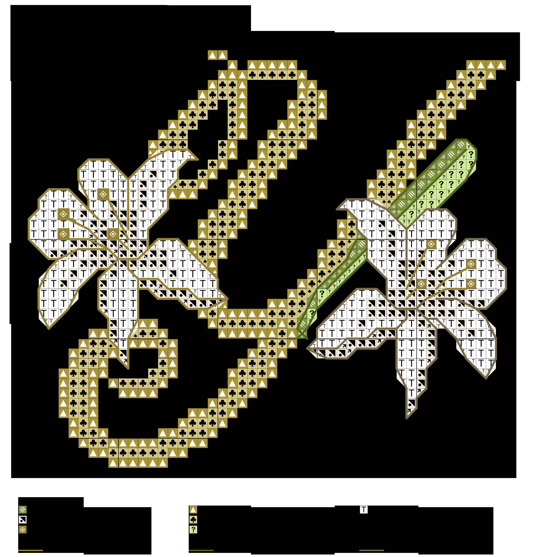 alfabeto dei gigli Y | CS ALPHABET DESIGNED | Pinterest | Cross ...