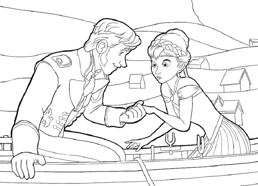 frozen coloring pages anna and kristoff | Disney | Pinterest