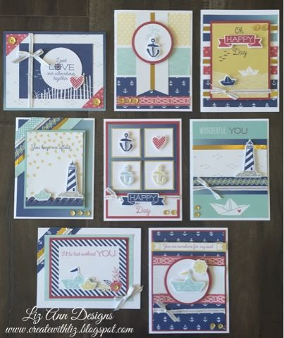 Each card is uniquely cute. By Create with Liz. Regatta Cards