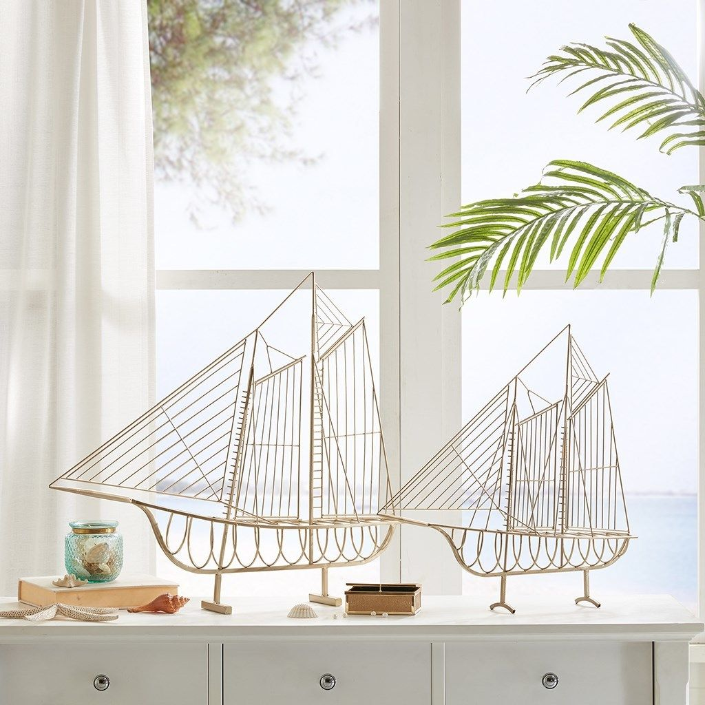 A Pair Of Iron Wire Ships For Your Nautical Decor The Kingston