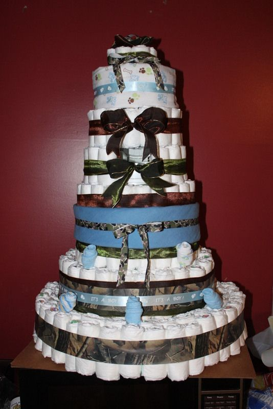 Baby Boy Camouflage Diaper Cake