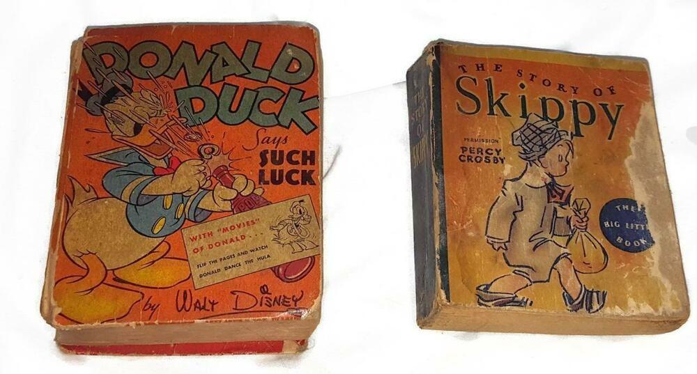 2 vintage big better little books disneys donald duck and