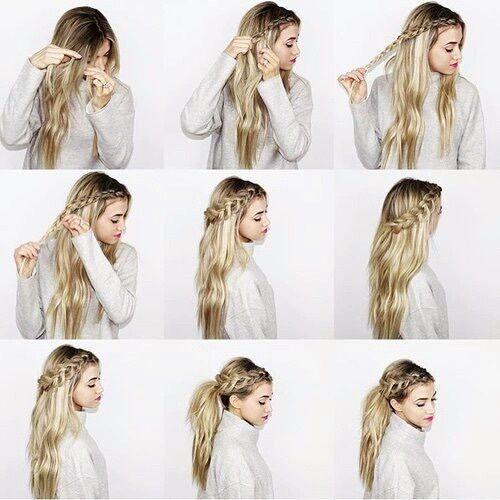 Image de hair, hairstyle, and braid coiffure en 2019