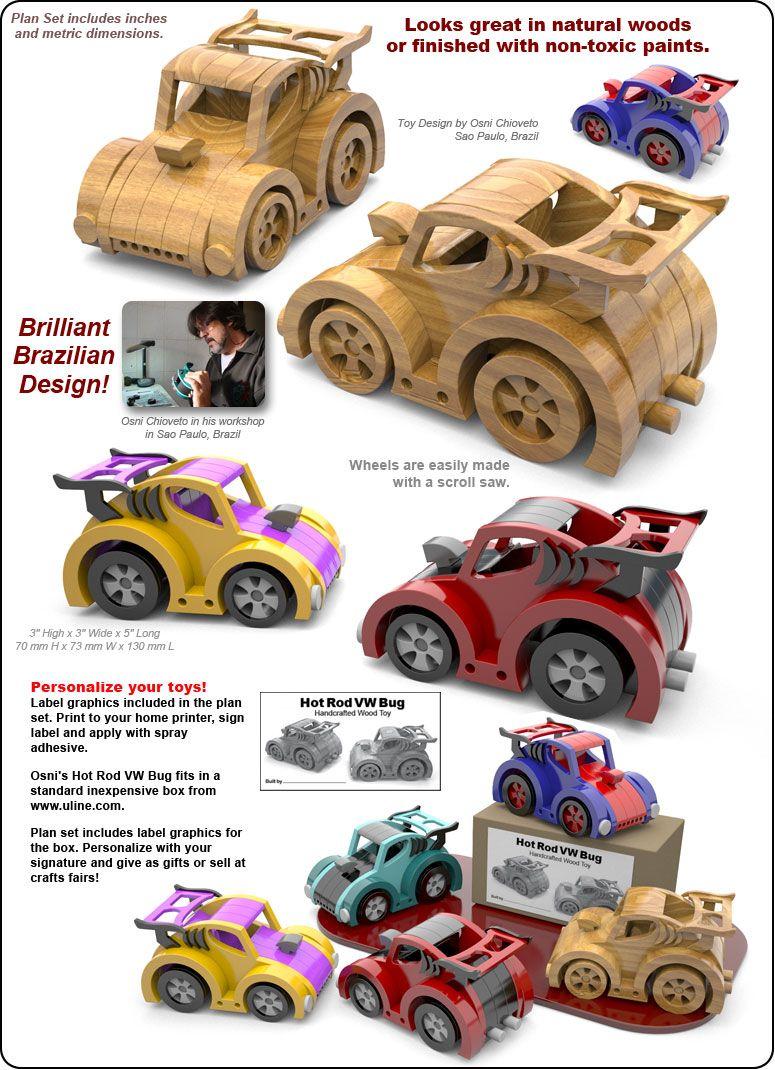 osni's hot rod vw bug wood toy plans (pdf download