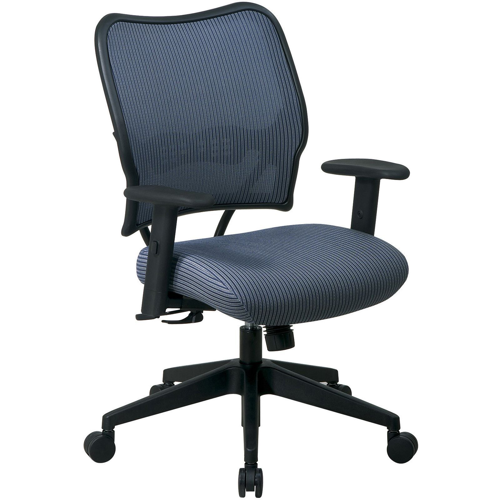 Deluxe Chair with VeraFlex Fabric & Adjustable Arms, Blue Mist