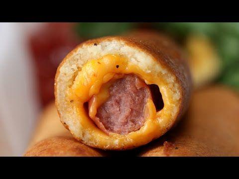 cheese stuffed corn dogs dog recipes yummy food bien tasty pinterest