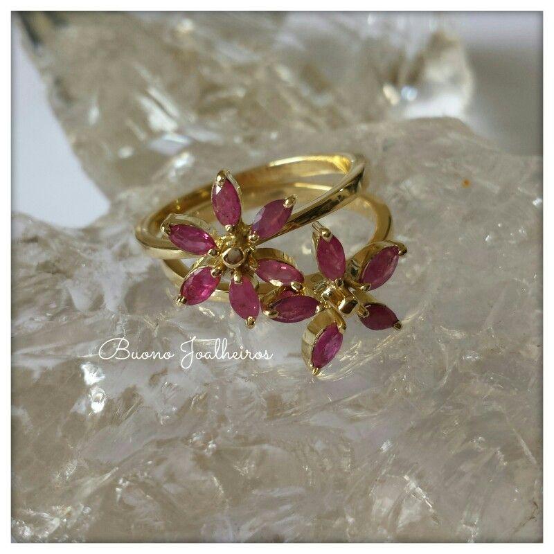 Anéis flor