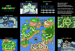 Super Mario World Maps Level Design & Game Maps