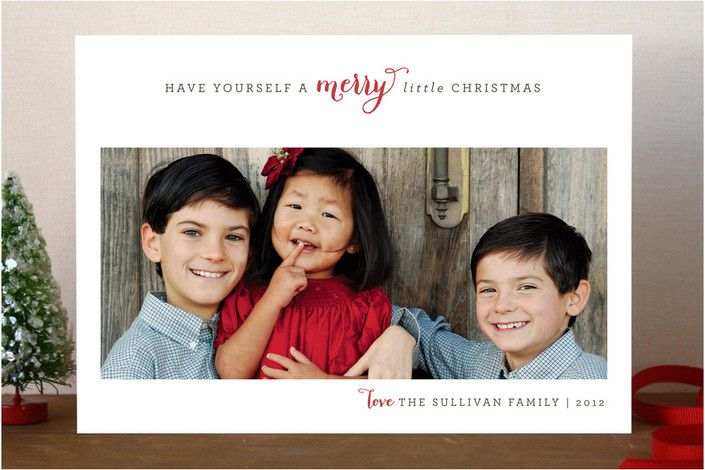#24. Merry Little Christmas by @daily planet Sip Studios from Chicago, IL. Announcing @Minted #Holiday2012 design challenge winners.