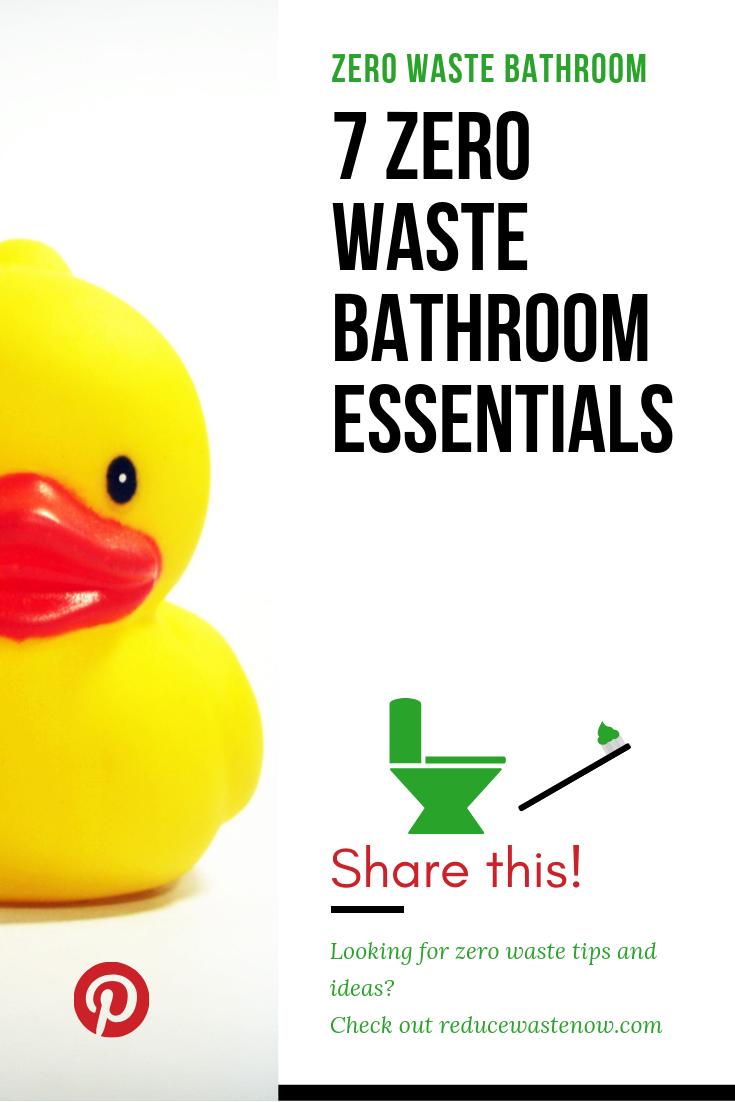 7 Zero Waste Bathroom Essentials | Zero waste, Bathroom ...
