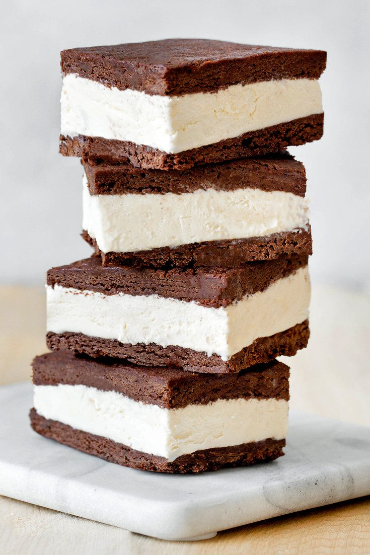 NYT Cooking: These ice cream sandwiches make a perfect summertime treat. The thin brownie cake layer bakes quickly, which is a bonus on hot days, and the filling need not be homemade. Freezing time can vary so be sure to plan ahead. Give the assembled cake plenty of time before trying to cut and wrap individual sandwiches and make sure the finished sandwiches are well-frozen before... #icecreamsandwich