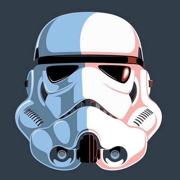 Eric Tan S Retro Stormtrooper Art Movie Art Star Wars