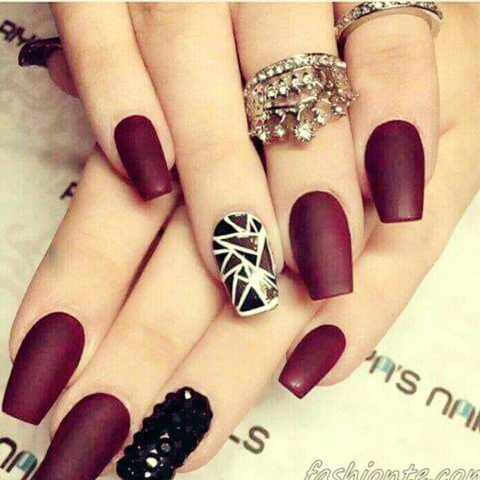 Hermosas #uñas #guindas #nails | uñas | Pinterest