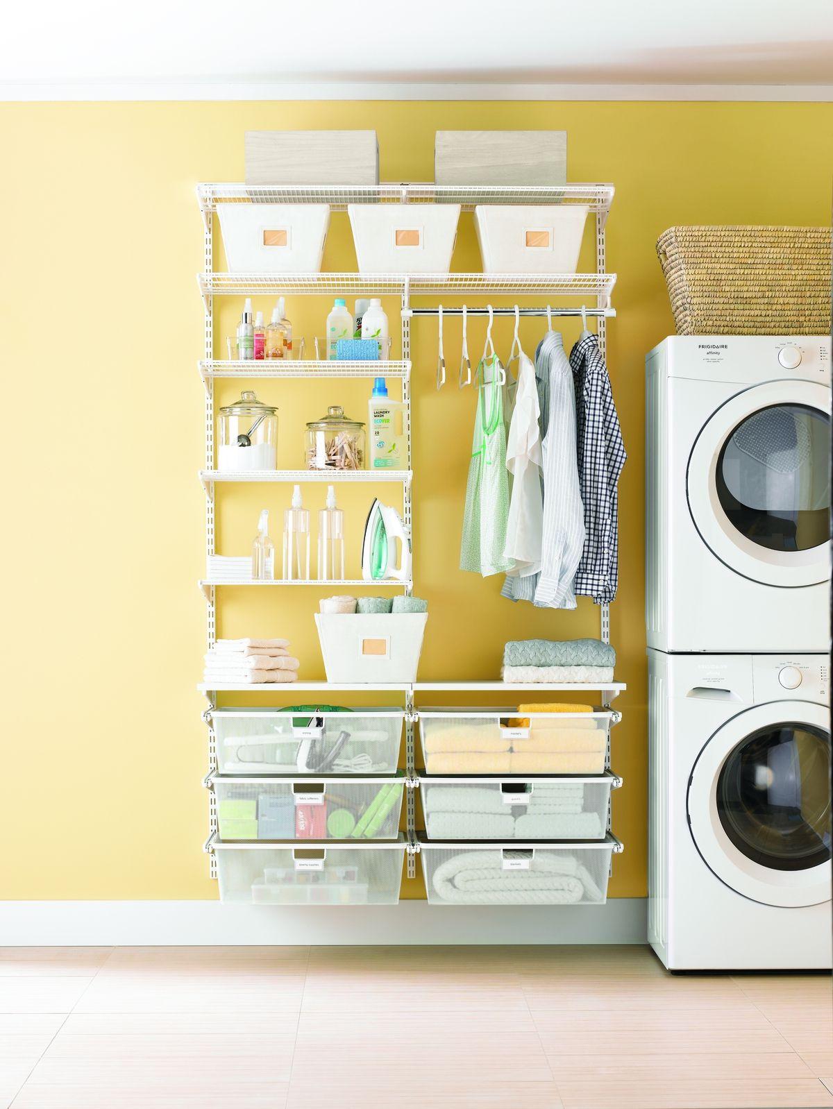 White Elfa Laundry Room Laundry Room Decor Diy Shelving