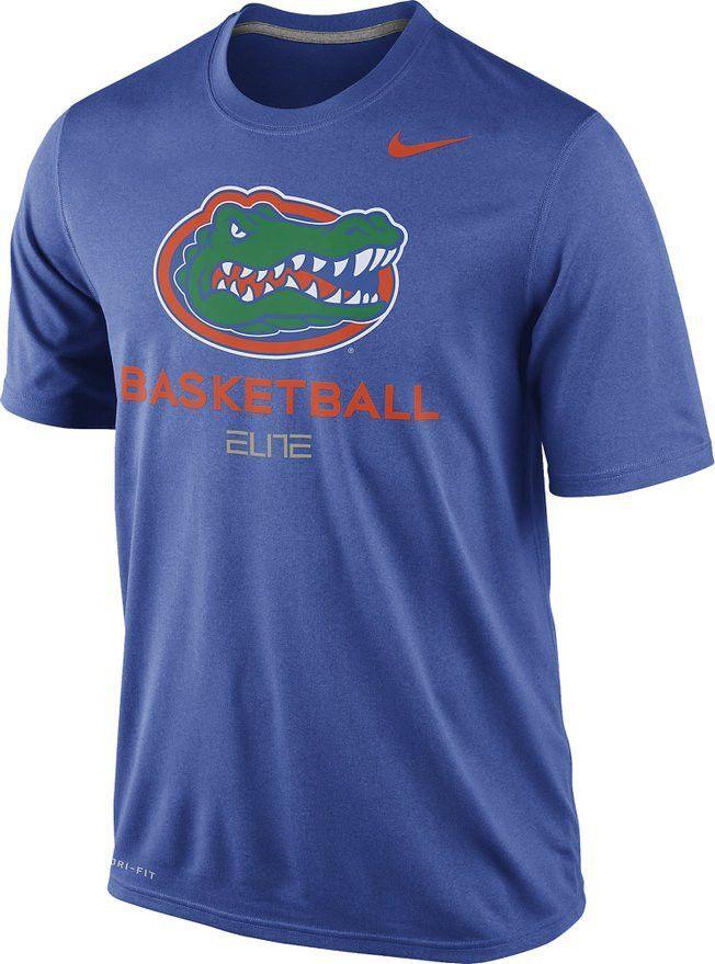 Florida Gators Basketball Nike Elite Royal Blue Dri Fit Mens T Shirt Florida Gators Basketball Basketball Practice College Basketball Shirts