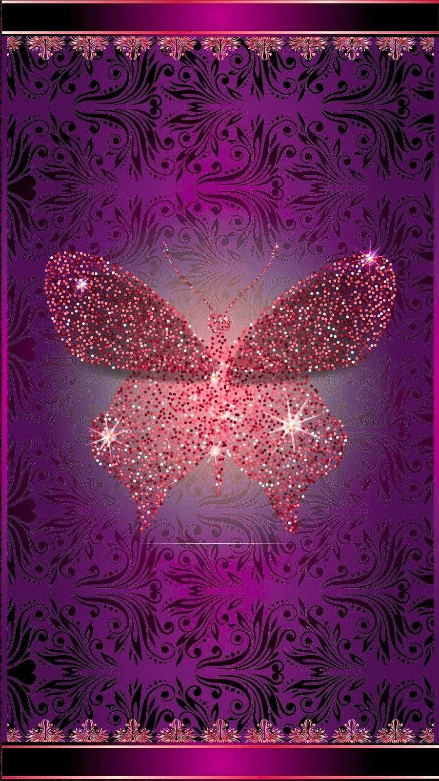 Pin by Nicole Budka on Glitter Backgrounds | Butterfly ...