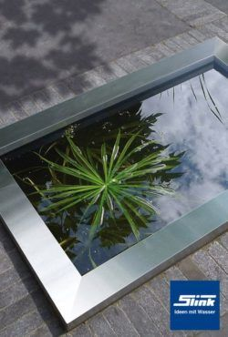 HDPE Wasserbecken Mit Edelstahlumrandung 120 X 80 X 45 Cm 365 Liter