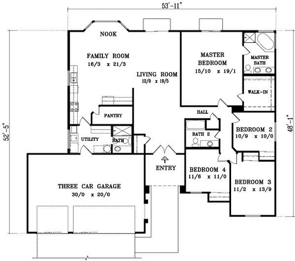 Amazing A 2075 Square Feet, 3 Batrooms, 4 Bedrooms, 2075 Square Feet, Free House  Plan