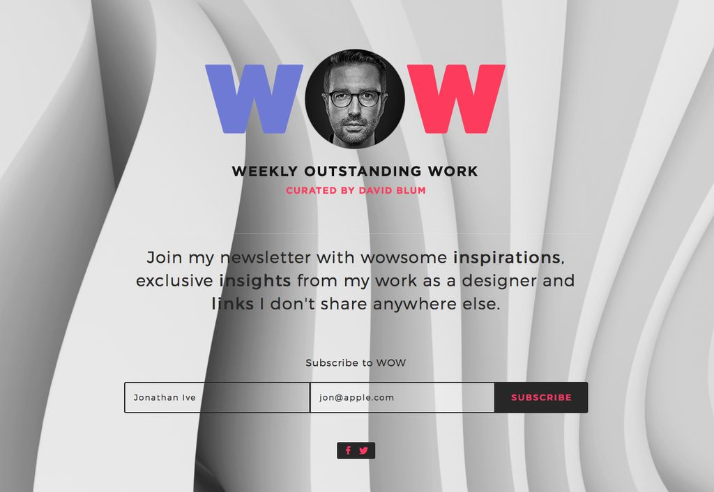 Tomorrow I'll send out the #1 of my personal newsletter called WOW: http://wow.davidblum.ch/
