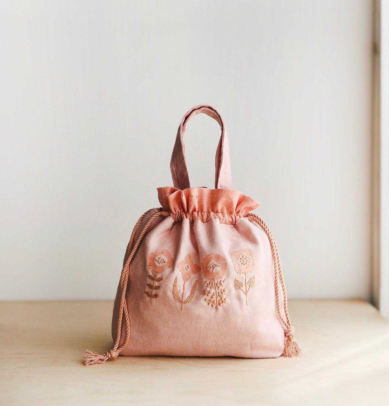 Drawstring bag pdf sewing pattern kiko drawstring bag