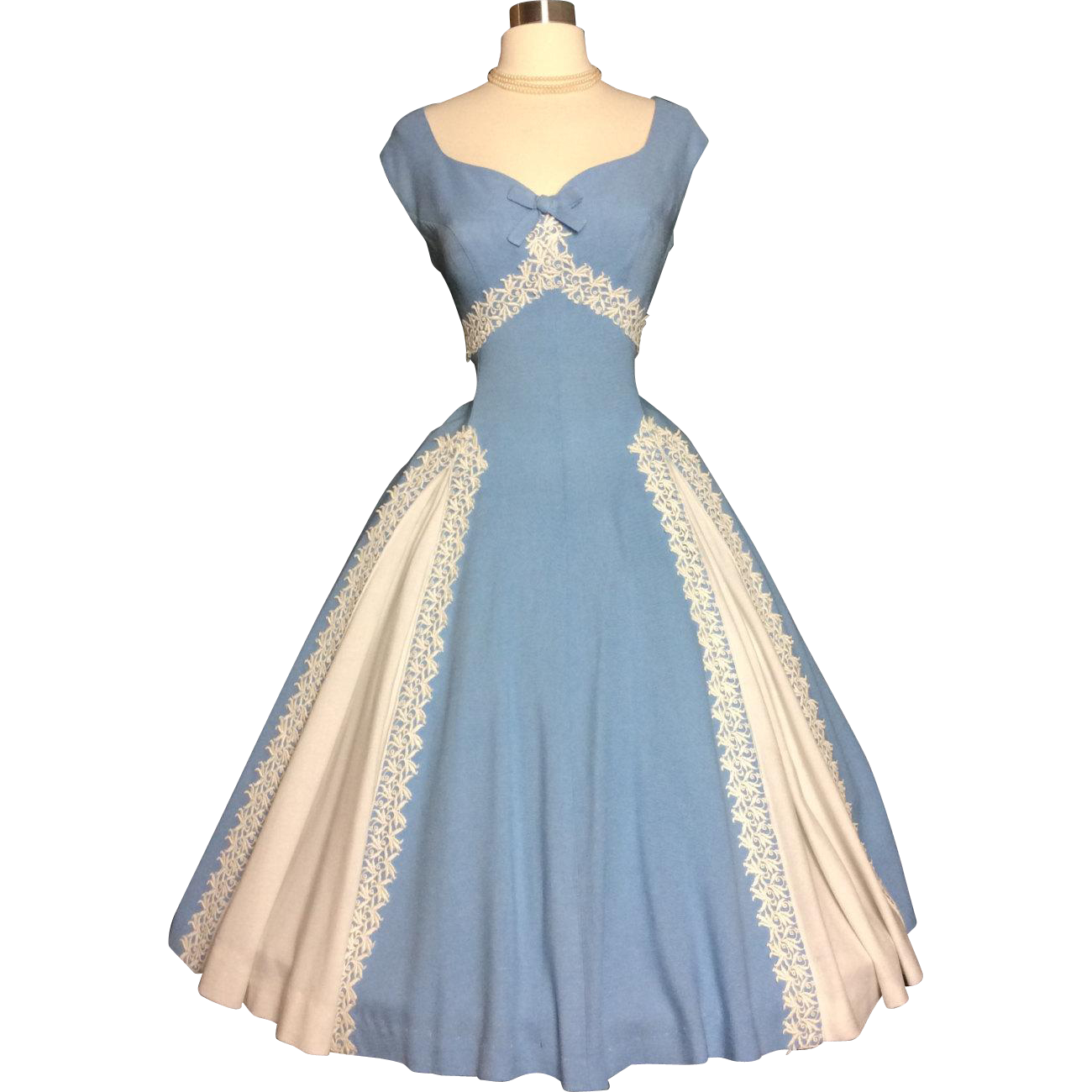 Vintage 1950\'s Dress//New Look// Full skirt// Rockabilly//Cocktail ...