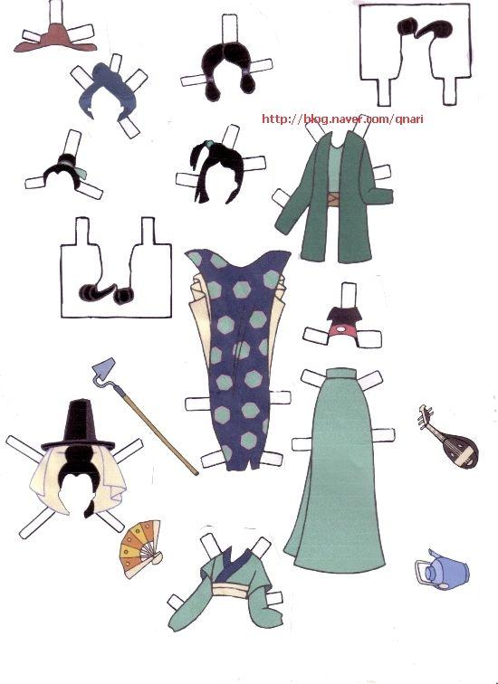 Dresses for Disney's Mulan paper dolls, Portuguese (8 of 9) | Naver Blog | 여장을한 무슈라니.. 생각만으로도 넘귀엽겠죠? ㅎㅎ