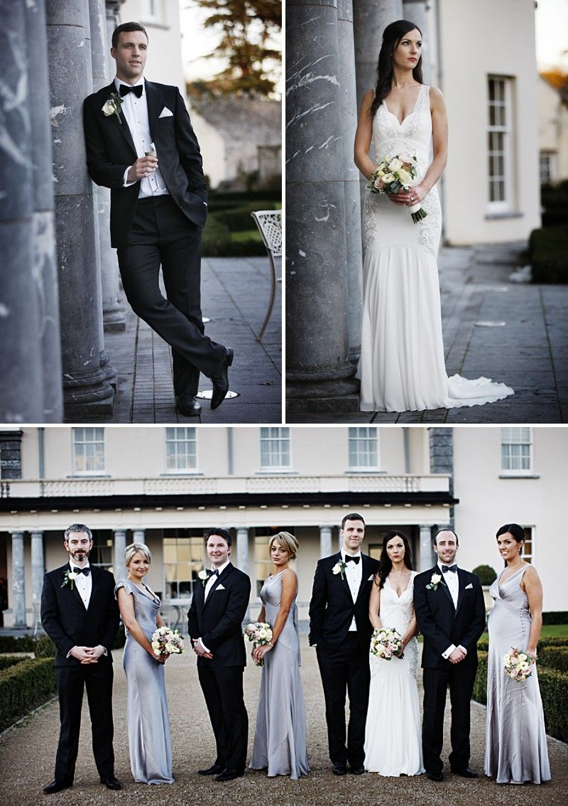 A wintery black tie wedding at castlemartyr in ireland with an a wintery black tie wedding at castlemartyr in ireland with an amnesia rose bouquet and ghost bridesmaid dresses and a nicole miller wedding dress with junglespirit Images