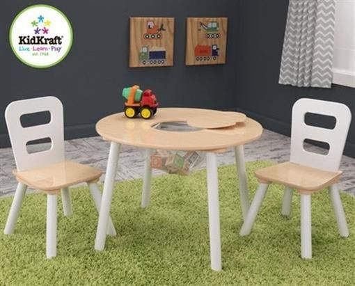 Play Tables And Chairs 66743: Kidkraft 27027 Kids Wood Round Play Table And  2 Chair