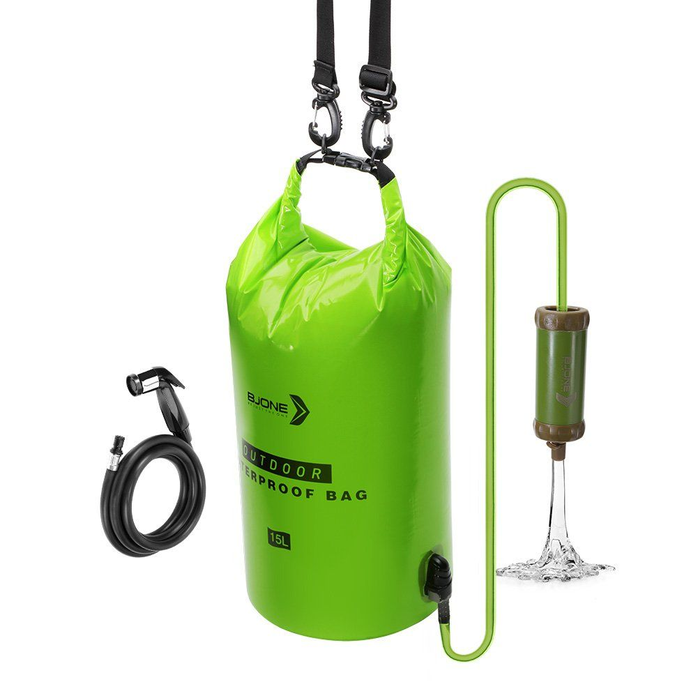 Water Filter Bag System15l Highvolume Gravityfed Water Purifierportable Dry Bag And Outdoor Hydration Pack With 1 Shower An Water Purifier Dry Bag Solar Shower