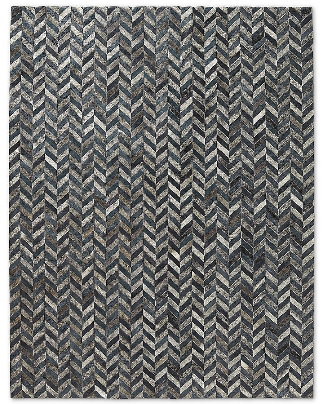 HIDES TRENDS PAGE: Chevron Cowhide Rug - Blue Grey