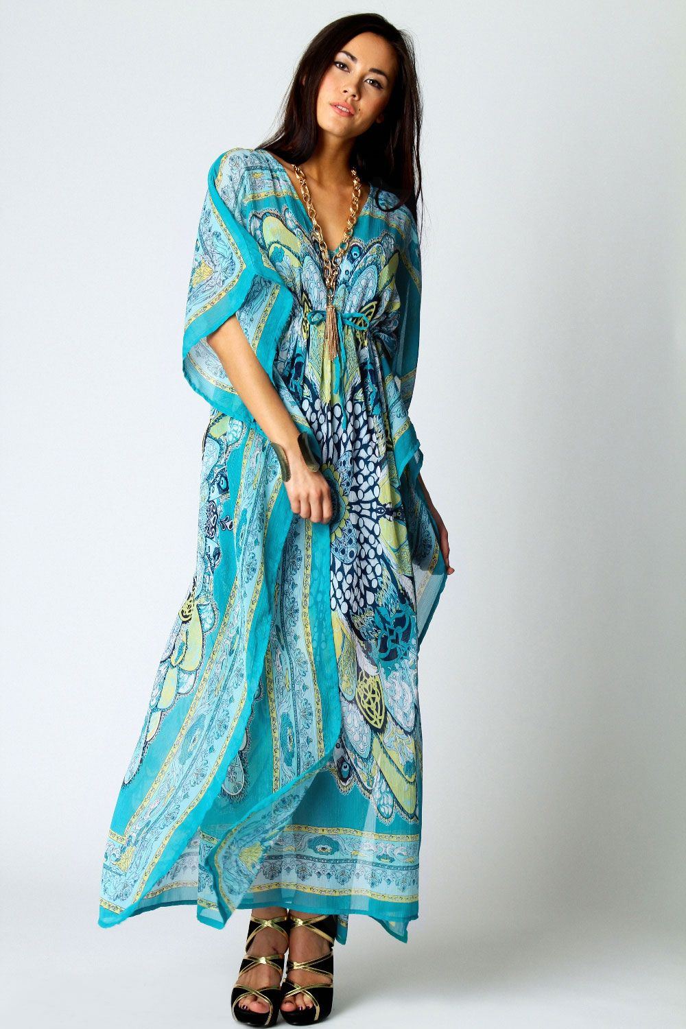 08be13eb56d5 Kara V Neck Paisley Print Maxi Kaftan Dress - seriously seeking such maxi  dressed, not aka caftans, but do prefer latter - it's an ethnic thing!
