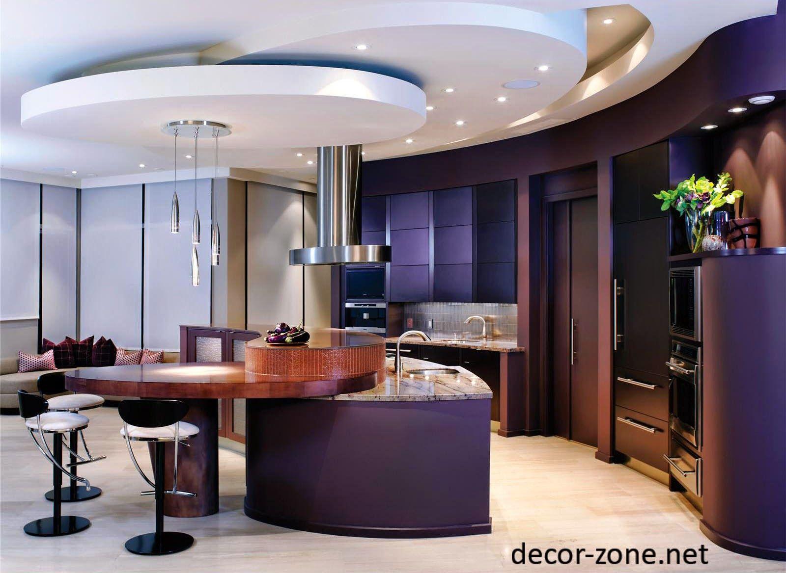 kitchen ceiling ideas, gypsum false ceiling designs   futuristic