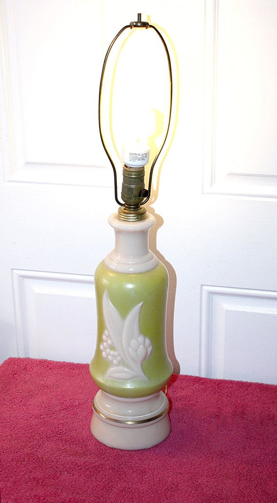 Vintage Mid Century Aladdin Lamp Chartreuse By Queenieseclectic 70 00 Aladdin Lamp Lamp Vintage Lamps
