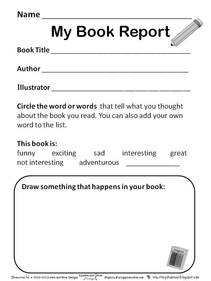 preschool book report template - Google Search Book Report