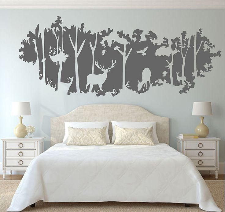 Deer Nursery Wall Decals Deer Nursery Living Room Playroom And - Wall decals on furniture