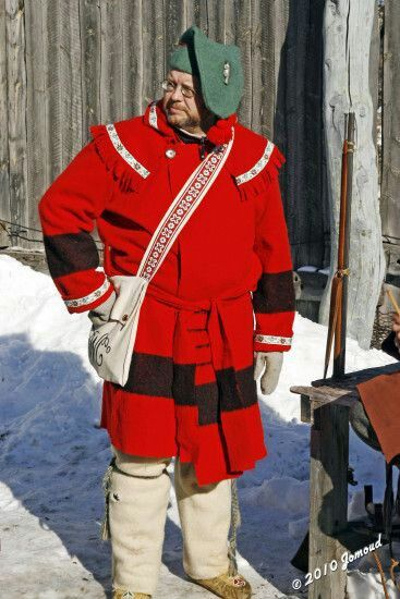 the traditional clothing of a voyageur  voyageur is a french word which literally means traveler